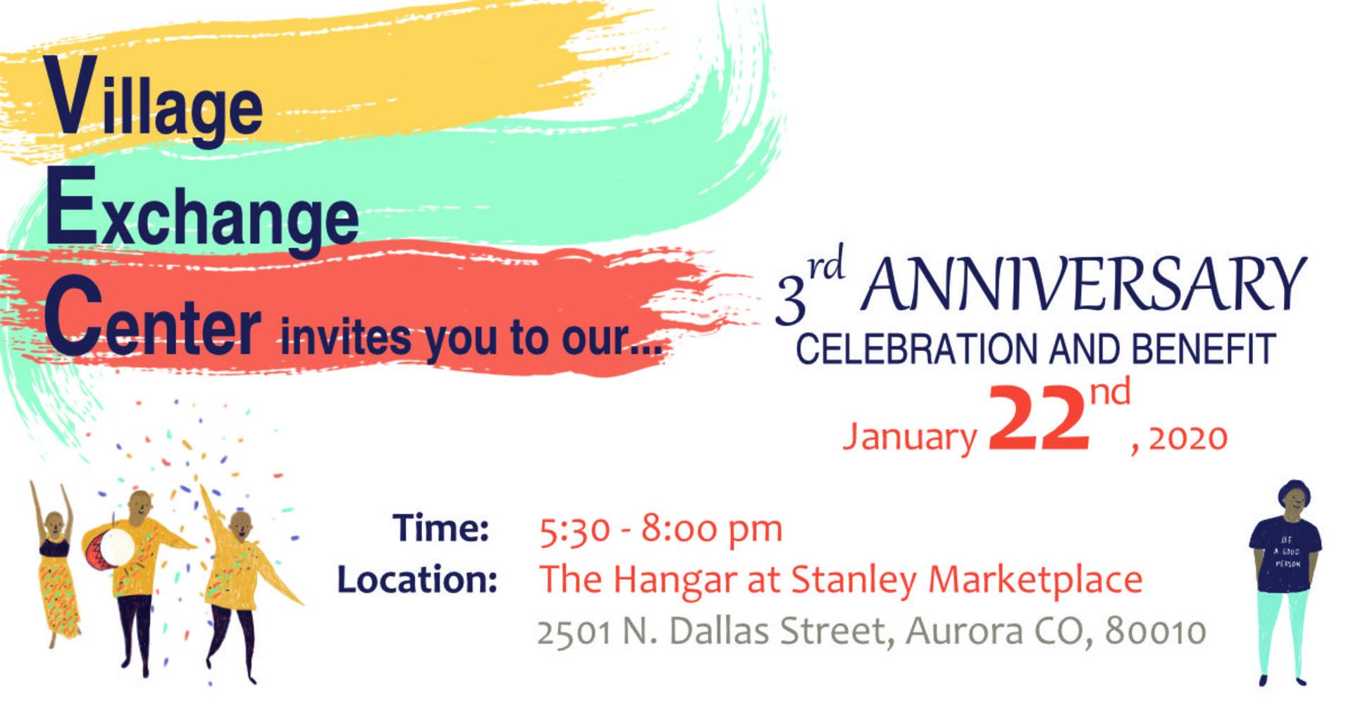 Village Exchange Center 3rd Anniversary Benefit