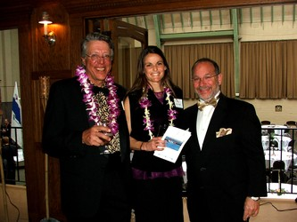 Board member David Spira, left, with Carrie Howe and Executive Director Steve Frank