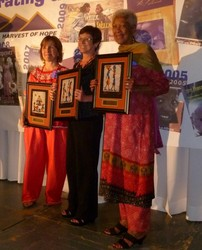 Harvest of Hope's three co-founders are honored (l to r): Kathryn Ewers Roy, MaryAnn McGeady and Pauline Miles