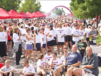 After the run/walk, thousands of participants gathered on the DTC Blvd. to enjoy food samples, listen to music and hear the winners of the race
