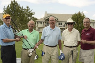 Steve Berman, left, with Bernie Buescher, Larry Ricketts, Gerry Phelan and Larry Feinberg