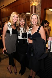 Monica Owens, left, with Cyndy Everett and former First Lady Frances Owens.