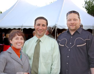 Board member Alicia Hawthorne, FMHP Executive Director Brett Haydin and board member Chris Lozing
