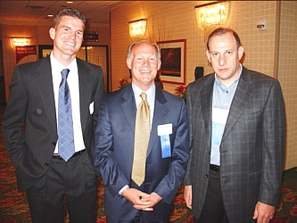 Joe Phillips, left, Mike Alcott, and Co-Chair Marc Levine
