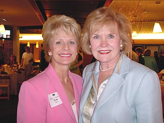 "Sue Ellen Goss, left, and guest speaker Jean Galloway of the Galloway Group.  Jean was honored for her ""Lifetime Contributions to the Community."""