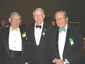 Colorado Trust's John Moran, left, accepts appreciation awards with founder Dr. Jerry Buckley and Dr. Frank Traylor