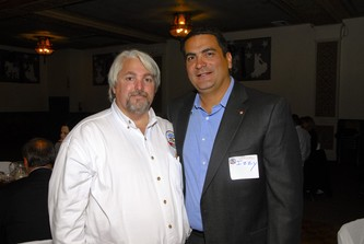 JJ Margiotta, founder of the 9/11 Freedom Rally, left, and Izzy Abbas