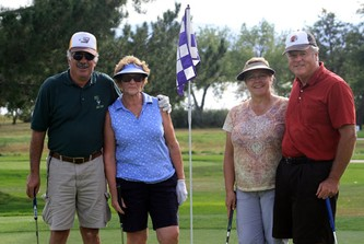 ROMEO Golf Club President Roger Colonnese, left, with Lynn Colonnese, Millie Kneeland and Doug Kneeland