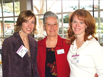 Erin Kurse, VOA Director Corrine Schilling and Kate Howie