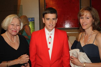 Longtime supporters Dee Spinzig Chapman and Susan Robbins with Maestro Carl Topilow