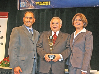 President and CEO of the DHCC Jeffrey Campos, recipient of the Lifetime Achievement Award Ron Montoya, and DHCC Chairwoman Martha Rubi