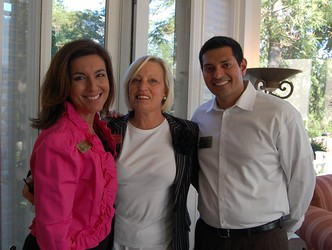 Board member Theresa Marchetta of 7News, left, with fellow board members Deborah Jordy and Rahul Kashyap (treasurer)