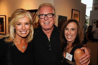 Dena Pastorini, committee member, left, with Peter Berg and Carmel Koeltzow, event co-chair