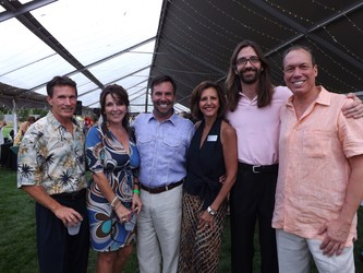 Steven Morrow and Cindy Detlefs with event co-chair - John Farnam, Patricia Peterson - Kempe Foundation President/CEO, volunteer - Launcelot Hawk, and event co-chair Paul Heitzenrater