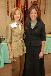 Joan Rogliano, left, founder of the Wildflower Women's Foundation and Debra Fine, speaker and author