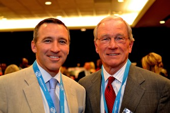 Board member Brent Power with former board chair Steve McConahey