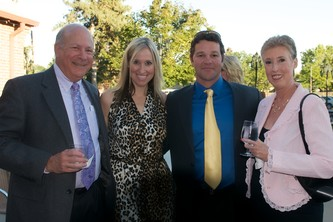Ray Fink, left, with Pam Renall, Garth Renall and Maddy Fink