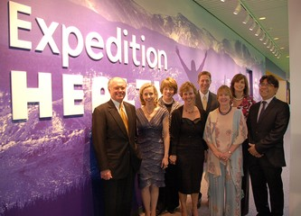 The DMNS Expedition Health staff team celebrates the grand opening of the new exhibit