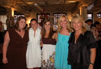 Committee members (l to r) Katie Behnkey, Kristen Reed, Jennifer Olinger, Monica Owens and Brandis Becky Pelletier