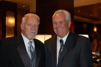 Founder of MaxFund, Dr. Bill Suro, left, with Dr. Dick Brickett