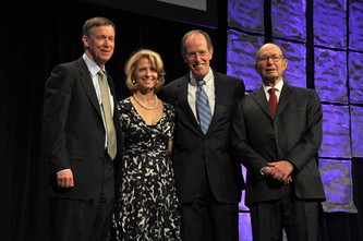 Gov. Hickenlooper, Kristin Richardson, Ron Williams and Sam Gary