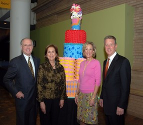 President and CEO of the Museum George Sparks, left, Karen Sparks, and co-chairs Sherri and Buz Koelbel
