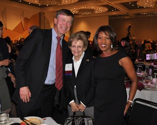 Governor Elect John Hickenlooper, Jan Mayer and actress Alfre Woodard
