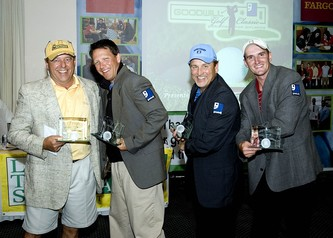 The winner is... left to right (showing off their Goodwill jackets): Doug Stefanson, Mark Neely, John Gabbert and Reed Smith