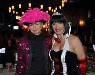 Lynn Simmons with Dani's Foundation Founder Michele Ashby at the Mad Hatter's Ball