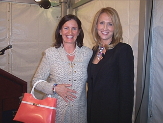Dani's Foundation founder Michele Ashby with Beijo Bags creator Susan Handley.