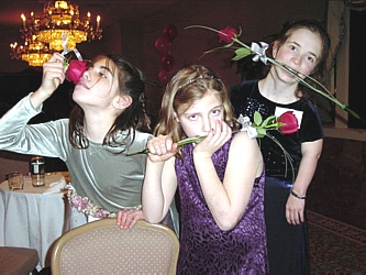 Children's Hospital cardiac patients ham it up for the camera; eleven-year-old Olivia, eight-year-old Natalie and Blair, twelve-year-old!