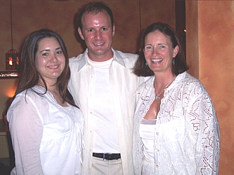Hosts of the White Party: Janet Woods, Jim Guttau, and Michele Ashby