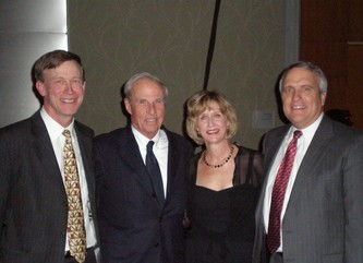 Mayor John Hickenlooper, Bruce Benson, Barbara Berv and Governor Bill Ritter