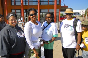 From left, Janell Lindsey, Tanya Russell, Gerie Grimes, Tamara White