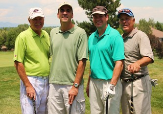 The winning foursome of Keith LaShier, Don Alpern, Mark Yoss and Tom Coates
