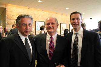 David Greenberg, Denver School of Science and Technology, Terry Minger of the Piton Foundation and Superintendent Tom Boasberg