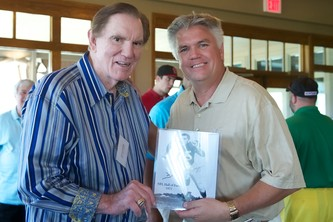 Forrest Gregg, left, and Terry Weeber