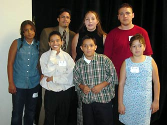 Youth of the Year Honorees included (l-r, back) Monique Johnson, Chris Arellano, Bernadette Torres, Lorenzo Casias,   front row Christopher Rios, Joshua Porras, Ana Portillo.