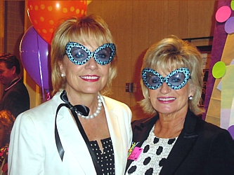 It's time to Boogie in polka dot chic! with Carolyn Fancher, left, and Lucy Kissinger at the 14th Annual Gathering Place Brown Bag Benefit.