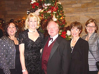 Founder of The Wildlife Experience Museum Dave Liniger of RE/MAX International, the presenting sponsor, with the 2004 Festival of Trees Co-Chairs Linda Watson, left, Diane Metz Kreider, Mary Meade and Karla Johnson-Grimes.