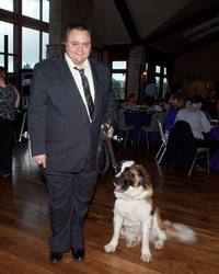 Robert Marsh with his seizure-response dog, Patches