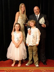 Man and Woman of the Year Kelly Bar-Or and Marc Paolicelli with Boy and Girl of the Year, Taylor Jones and Jack Selden