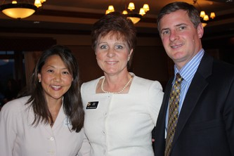 Dr. Ira Chang, Representative Cindy Acree and Don Frei