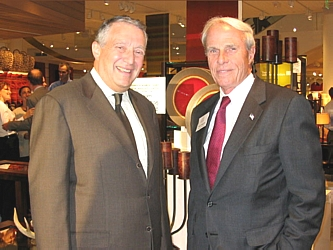 Crate & Barrel Founder Gordon Segal with DPS Foundation Board Chairman Bruce Benson