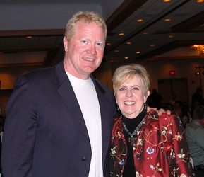 Guest speaker Karl Mecklenburg with BBB of Southern Colorado CEO Carol Odell