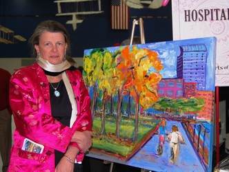 Mary Noone is able to continue as a very talented artist, thanks to UCH neurology department
