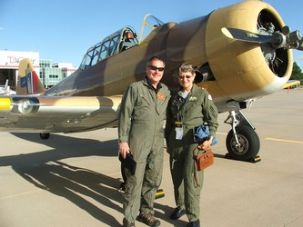 Pilots John Zayac and Julie Smith