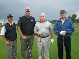 Ready to roll: Larry Enomoto, left, Jared Peterson, Tim Eunice and Ken Senour