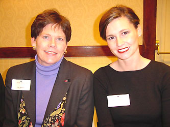 Ann Sparks, left, and Rachel Hennig suggested strategies for getting 20-somethings involved in philanthropy