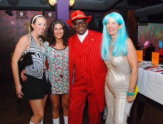 The main man Keith Ashby with the divas: (left) Lindsay Carr, Jenny Salima and Michele Ashby